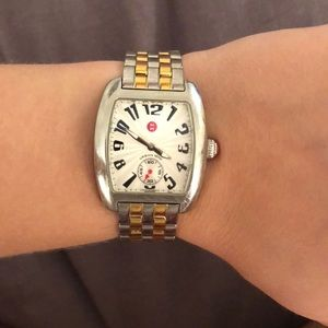 Michele Urban Mini two tone stainless steel watch